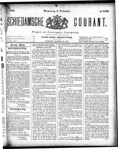 Schiedamsche Courant 1885-10-05