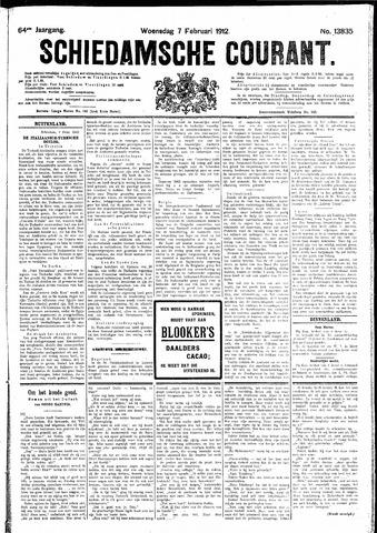 Schiedamsche Courant 1912-02-07