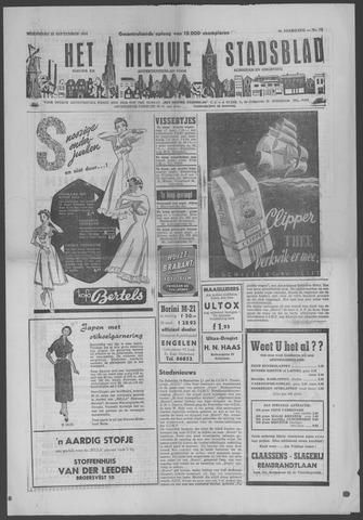 Het Nieuwe Stadsblad 1954-09-22