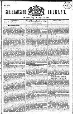 Schiedamsche Courant 1866-11-07