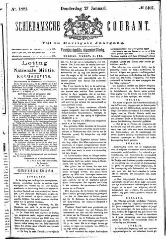 Schiedamsche Courant 1881-01-27