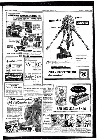 Rotterdamsch Nieuwsblad / Schiedamsche Courant / Rotterdams Dagblad / Waterweg / Algemeen Dagblad 1953-02-20