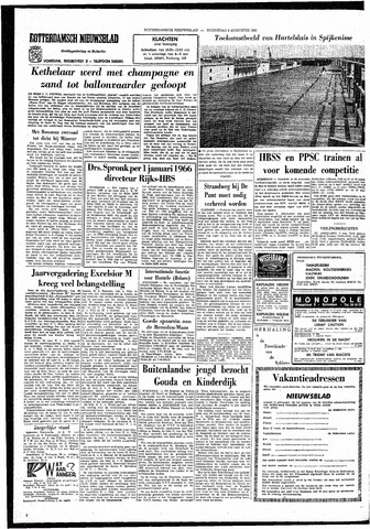 Rotterdamsch Nieuwsblad / Schiedamsche Courant / Rotterdams Dagblad / Waterweg / Algemeen Dagblad 1965-08-04