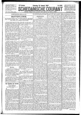 Schiedamsche Courant 1927-01-22