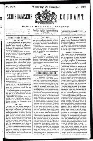 Schiedamsche Courant 1879-11-26