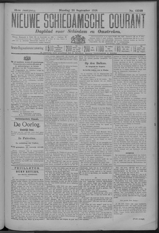 Nieuwe Schiedamsche Courant 1918-09-24