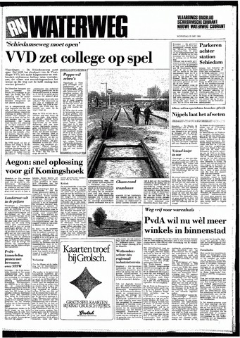 Rotterdamsch Nieuwsblad / Schiedamsche Courant / Rotterdams Dagblad / Waterweg / Algemeen Dagblad 1985-05-22