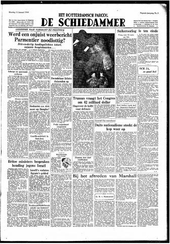 Rotterdamsch Parool / De Schiedammer 1949-01-11