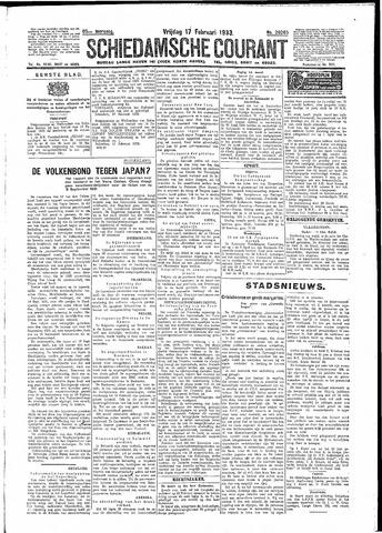 Schiedamsche Courant 1933-02-17