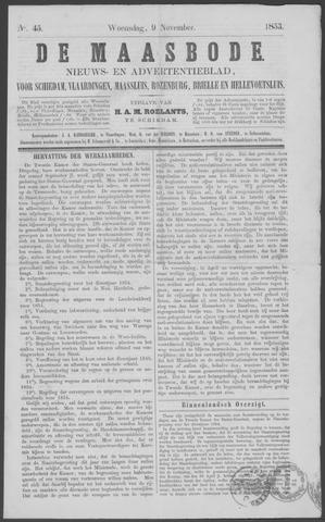 De Maasbode 1853-11-09