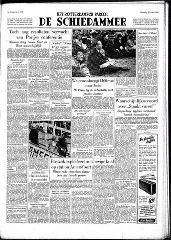 Rotterdamsch Parool / De Schiedammer 1949-06-20