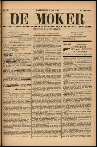 De Moker 1909-07-03