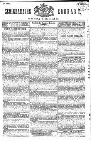Schiedamsche Courant 1862-11-03