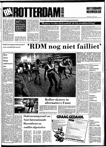 Rotterdamsch Nieuwsblad / Schiedamsche Courant / Rotterdams Dagblad / Waterweg / Algemeen Dagblad 1983-04-02