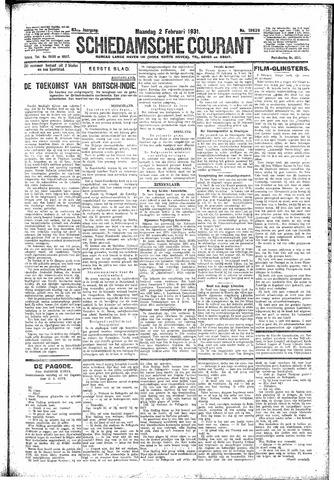 Schiedamsche Courant 1931-02-02