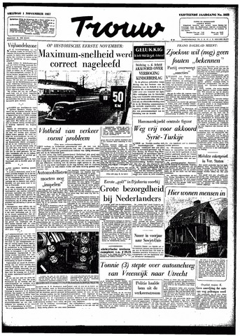 Trouw / De Rotterdammer 1957-11-01
