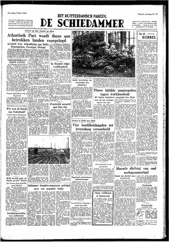 Rotterdamsch Parool / De Schiedammer 1949-03-09