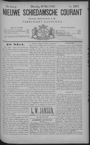 Nieuwe Schiedamsche Courant 1892-05-10