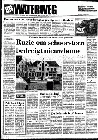 Rotterdamsch Nieuwsblad / Schiedamsche Courant / Rotterdams Dagblad / Waterweg / Algemeen Dagblad 1987-02-20