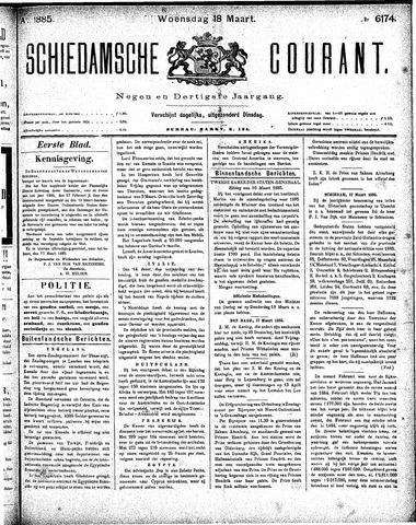 Schiedamsche Courant 1885-03-18