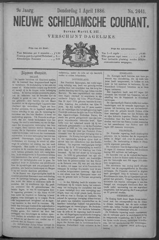 Nieuwe Schiedamsche Courant 1886-04-01