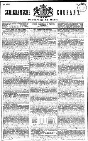 Schiedamsche Courant 1866-03-22