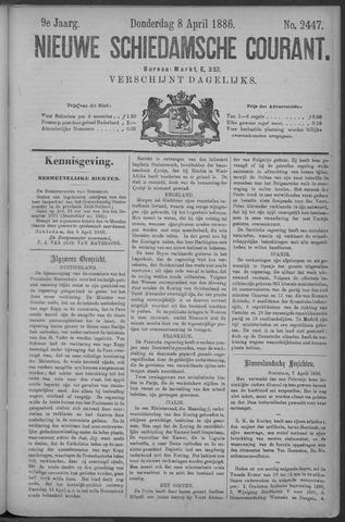 Nieuwe Schiedamsche Courant 1886-04-08