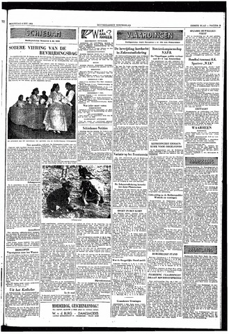 Rotterdamsch Nieuwsblad / Schiedamsche Courant / Rotterdams Dagblad / Waterweg / Algemeen Dagblad 1953-05-06