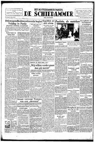 Rotterdamsch Parool / De Schiedammer 1947-06-24