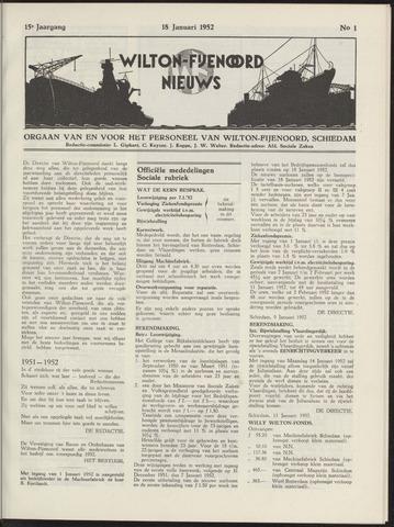 Wilton Fijenoord Nieuws 1952