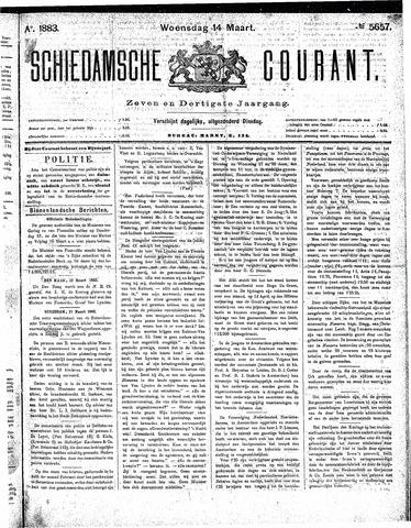 Schiedamsche Courant 1883-03-14