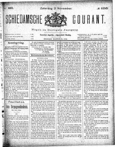 Schiedamsche Courant 1885-11-21