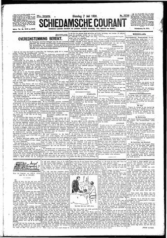 Schiedamsche Courant 1931-07-07