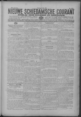 Nieuwe Schiedamsche Courant 1925-05-19