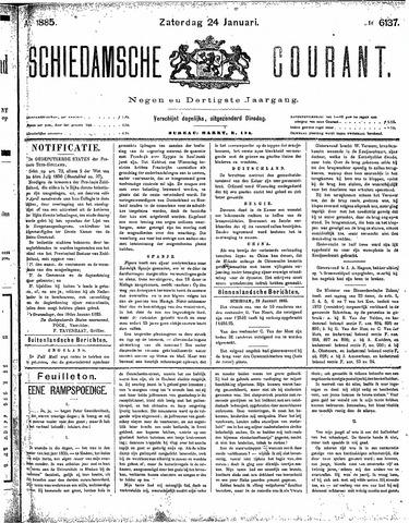 Schiedamsche Courant 1885-01-24
