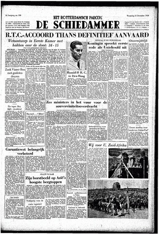 Rotterdamsch Parool / De Schiedammer 1949-12-21