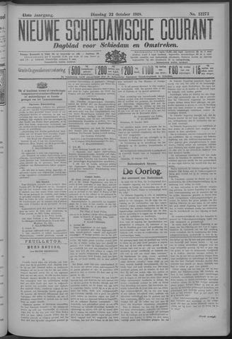 Nieuwe Schiedamsche Courant 1918-10-22