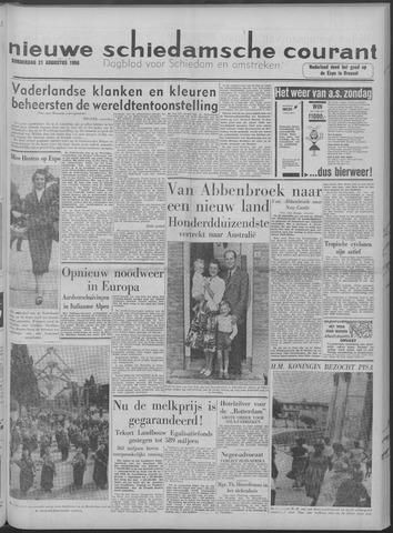 Nieuwe Schiedamsche Courant 1958-08-21