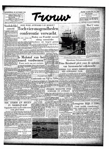 Trouw / De Rotterdammer 1953-10-29