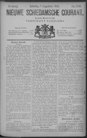 Nieuwe Schiedamsche Courant 1886-08-07