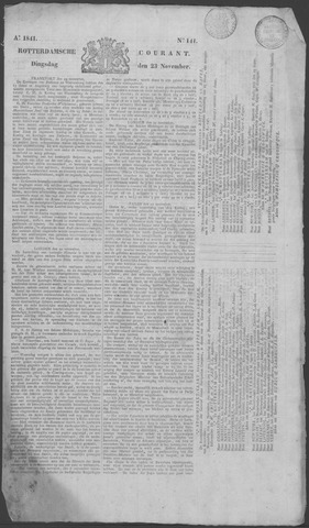 Rotterdamse Courant 1841-11-23