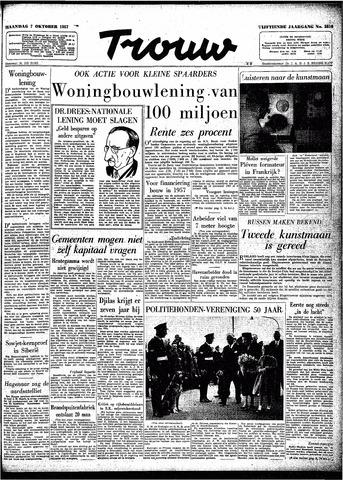 Trouw / De Rotterdammer 1957-10-07