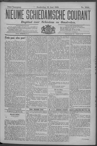 Nieuwe Schiedamsche Courant 1909-06-24