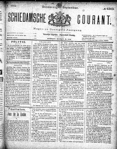 Schiedamsche Courant 1885-09-17