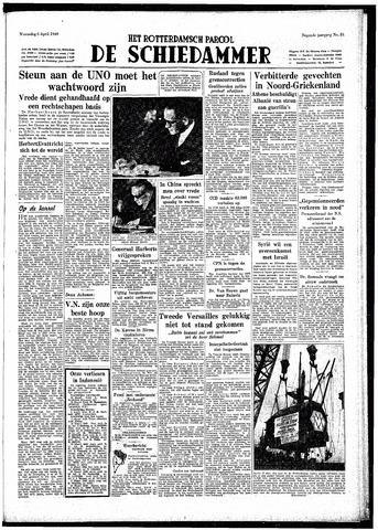 Rotterdamsch Parool / De Schiedammer 1949-04-06