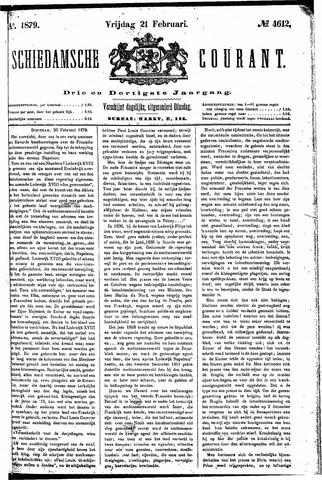Schiedamsche Courant 1879-02-21