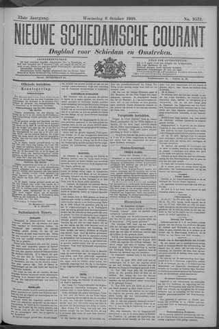 Nieuwe Schiedamsche Courant 1909-10-06