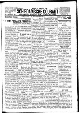 Schiedamsche Courant 1931-11-27