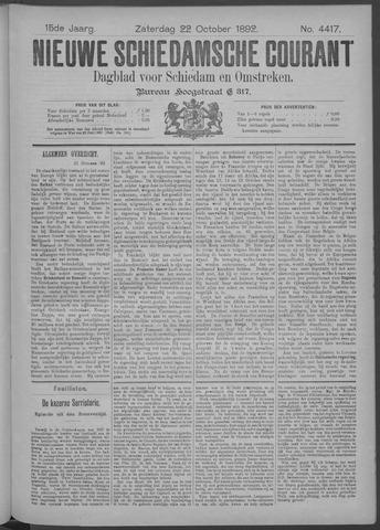 Nieuwe Schiedamsche Courant 1892-10-22