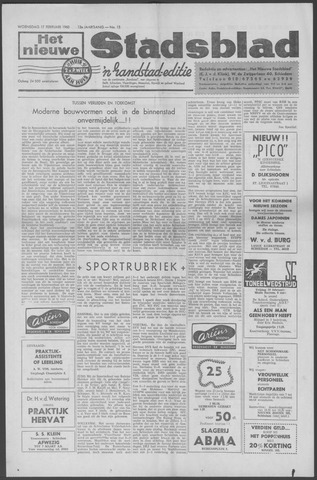 Het Nieuwe Stadsblad 1960-02-17